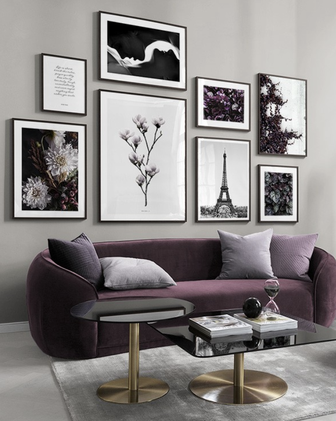 Parisian Purple Home Decor