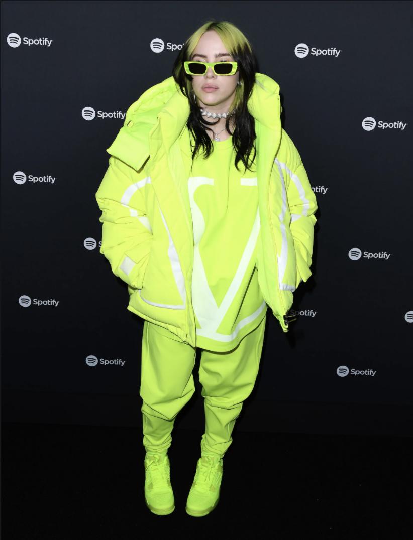 billie eilish neon outfit
