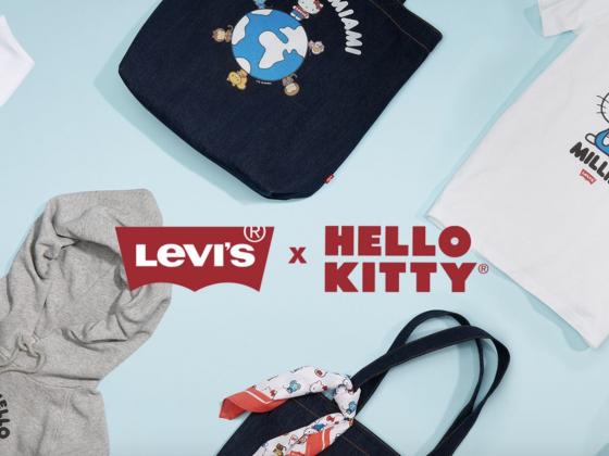 hello kitty x levi's
