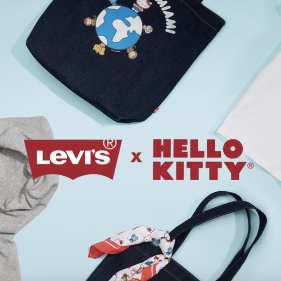 hello kitty x levi's
