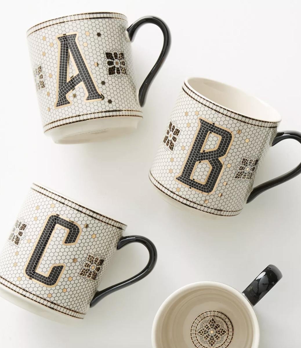 Anthropogie Mug With Initial