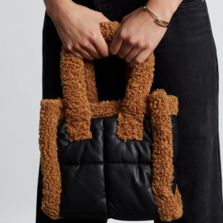 Furry Black Bag