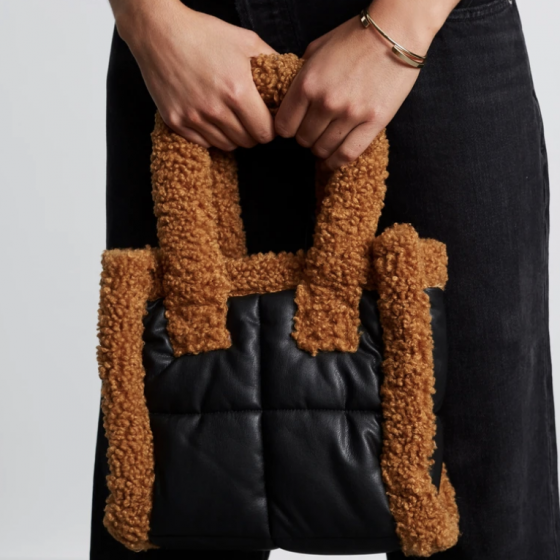 Furry Black Bag